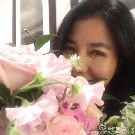 [热点新闻]钟楚红庆56岁生日 花朵前甜笑留影(图)