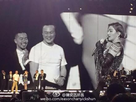 [热点新闻]陈奕迅晒与麦当娜同台照 留言:超级兴奋(图)