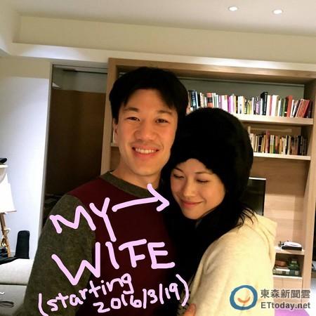 王力宏弟弟3月19日美国办婚礼与妻子甜蜜相拥(图)