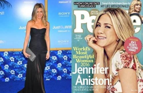 [有意思]2016全球最美女性榜单公布 47岁安妮斯顿夺冠