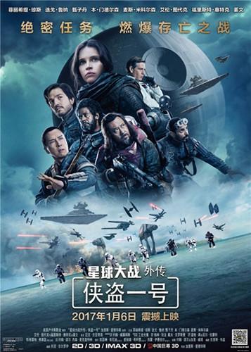 《侠盗一号》1月6日上映草根英雄激战银河乱世