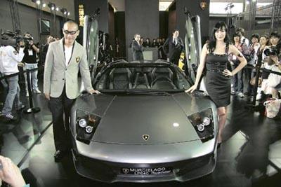 兰博基尼在第五届中国(广州)国际车展活动.据香港明报报道,林高清图片