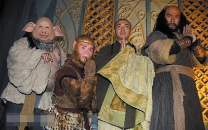 图文:新《西游记》唐僧师徒四人首次齐聚