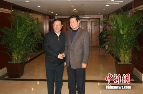 陕西省代省长赵正永会见中国侨联主席林军