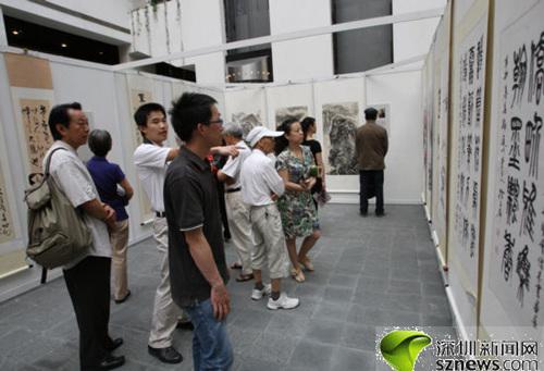 200件深圳侨界书画艺术作品展出丛飞夫妇 现身