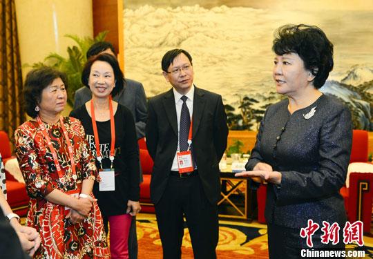 裘援平会见广东侨商会代表团