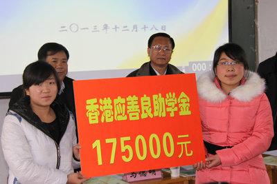 """140名青海师范大学贫困生喜领""""应善良助学金"""""""