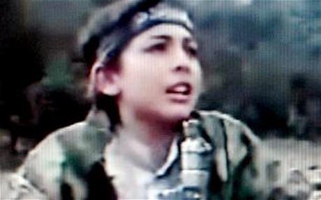 拉登的爱子哈姆扎14岁时的照片。报导称他也许逃走了此次对拉登的突袭。