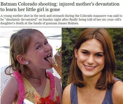 丹佛枪击案最小遇难者维罗妮卡・莫瑟尔・苏利文(左)和她的母亲阿什利・莫瑟尔(网页截图)
