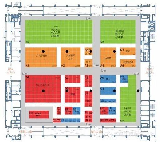 广州车展展位图暴光  将全球首发车36辆