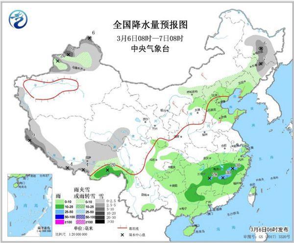 南方两轮降雨无缝衔接 华北东北有雨雪