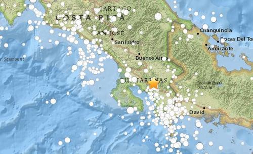 哥斯达黎加南部发生6级地震 震源深度19.1千米