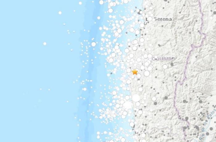 智利近海地区发生5.6级地震震源深度53.9千米