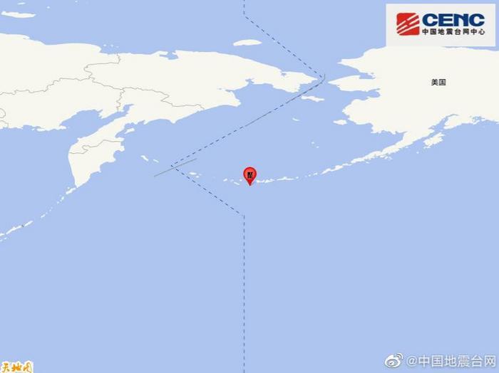 安德烈亚诺夫群岛发生6.1级地震震源深度50千米
