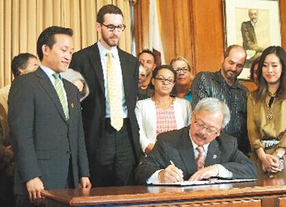 旧金山华裔市长签署短期民宅分租法华人居民点赞