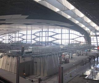 直击北京大兴国际机场航站楼施工现场