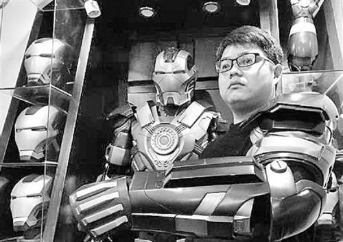 杭州漫威迷手工打造钢铁侠盔甲 去女儿幼儿园秀了一场