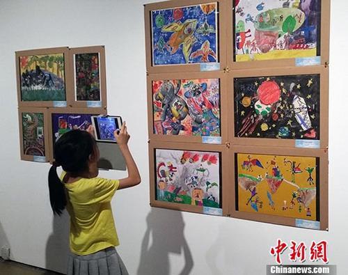 第八届海峡两岸少儿美术大展·北京展开幕